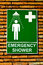 Stock Image : The Sign emergency safety shower