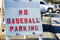 Stock Image : No Baseball Parking sign