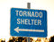 Stock Image : Sign for a tornado shelter