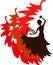 Stock Image : Silhouette of flamenco dancer