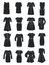 Stock Image : Silhouettes of office dresses
