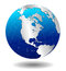 Stock Image : Silver AMERICA Global World