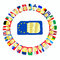 Stock Image : SIM cards represented as flags of European Union countries