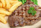 Stock Image : Sirloin Beef Steak Dinner with Chips