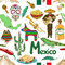 Stock Image : Sketch Mexico seamless pattern
