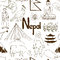 Stock Image : Sketch Nepal seamless pattern