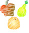 Stock Image : Sketchy Fruits - Apple, Pear, Orange