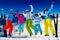 Stock Image : Ski family