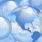 Stock Image : Sky and bubbles background