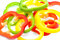 Stock Image : Sliced colorful peppers