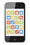 Stock Image : Smart phone with icons