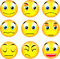 Stock Image : Smiley emoticons