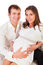 Stock Image : Smiley young pregnant couple