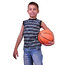 Stock Image : Smiling boy, basketball player posing with a ball