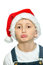 Stock Image : Smiling boy in Santa red hat