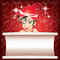 Stock Image : Smiling Elf in Red with White Paper