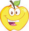 Stock Image : Smiling Yellow Apple Cartoon Mascot Character