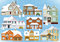Stock Image : Snow covered city houses (Christmas)