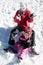 Stock Image : Snow fun