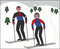 Stock Image : Snow ski cartoon