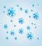 Stock Image : Snowflake background
