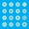 Stock Image : Snowflake icon set 2, vector eps10