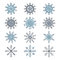 Stock Image : Snowflake set