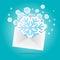 Stock Image : Snowflakes Envelope