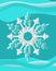 Stock Image : Snowflakes with Swirl