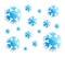 Stock Image : Snowflakes on white
