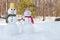 Stock Image : Snowman couple