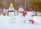 Stock Image : Snowman family