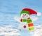 Stock Image : Snowman on snow