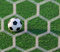 Stock Image : Soccer ball in goal