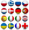 Stock Image : Soccer Balls With Flags For Euro 2012