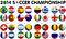 Stock Image : Soccer Championship 2014 Groups Flags