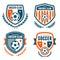 Stock Image : Soccer crests