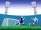 Stock Image : Soccer goal background.