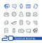 Stock Image : Social Icons // Line Series