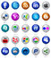 Stock Image : Social media buttons set
