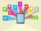 Stock Image : Social Media Vector Icon Illustration
