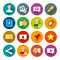 Stock Image : Social Networks icons – Fllate series
