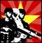 Stock Image : Socialist theme military template
