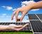 Stock Image : Solar energy panels