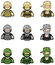 Soldier icon collection set 1