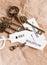 Stock Image : Some vintage keys with motivation words