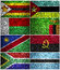 Stock Image : South Africa flags