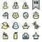 Stock Image : Spa icons set