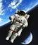 Stock Image : Space walk vector illustration