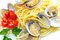 Stock Image : Spaghetti pasta and seafood  clams